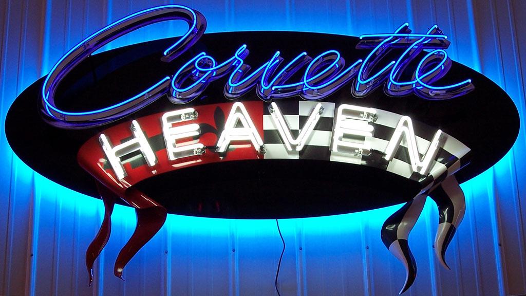 Corvette Heaven neon