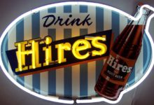 Hires neon sign