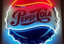 Pepsi neon sign